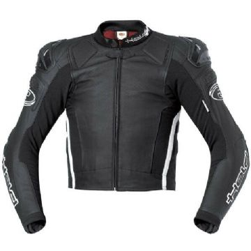 Held Safer Leather Motorcycle Motorbike Sports Jacket SASTEC 3D armour Black